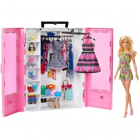 Комплект кукла Barbie Fashionistas с гардероб